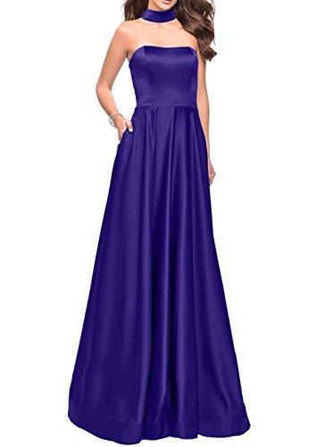 Partykleider Lang Brautjungfernkleider Satin Damen Regency Charmant Traube Einfach Abschlussballkleider Abendkleider vxgUf0qwO