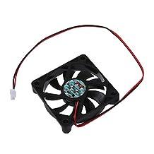 SODIAL(R) Desktop PC Case DC 12V 0.16A 60mm 2 Pin Cooler Cooling Fan
