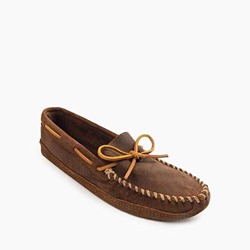 Sole Moccasins Double - Minnetonka Men's Double Bottom Softsole Moccasin (Brown Ruff)-10 M US