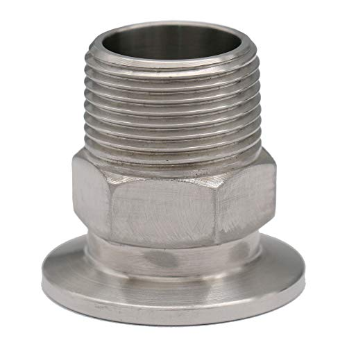 Adapter KF-25 to 3/4 in. PT-Male, ISO-KF Flange Size NW-25, Stainless Steel (304) (Male)