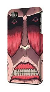 Attack on Titan Face Snap on Plastic Case Cover Compatible with Apple iPhone 4 and 4s