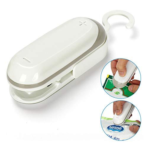Mini Bag Sealer, Handheld Heat Vacuum Sealers, 2 in 1 Heat Sealer and Cutter Handheld Portable Bag Resealer Sealer for Plastic Bags Food Storage Snack Fresh Bag (Battery Not Included) by Atpot