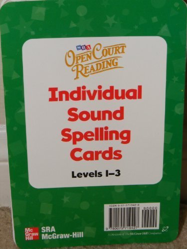Open Court Reading 2002 Sound/Spelling Individual Cards - Levels 1-3, Additional Resources, Grade 3
