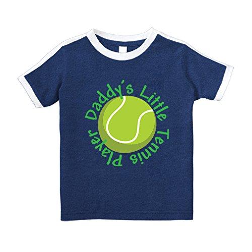 Cute Rascals Daddy S Little Tennis Player Cotton Short Sleeve Crewneck Unisex Toddler T-Shirt Soccer Tee - Royal Blue, 3T - Football Tennis Player