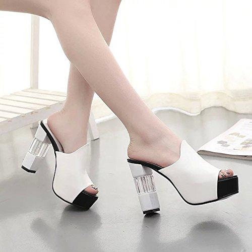 lgantes Et Girl White lgantes Bouche 37 Pantoufles Chaussures Poisson Super Polyvalentes Femme De 20 Brutes Fraches 9 FHwxf