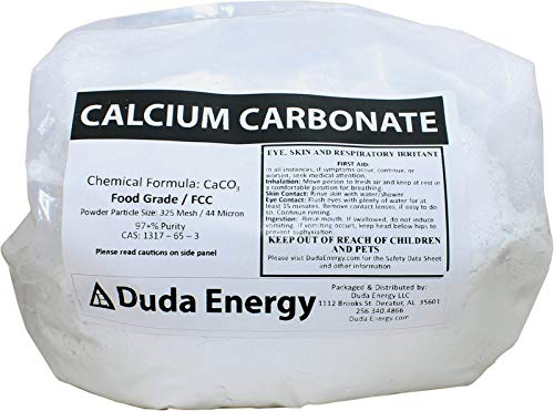 10 lb Food Grade 97+% Calcium Carbonate from Ground Limestone