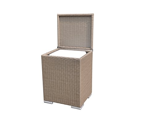 Radeway 28 Qt. Outdoor Rattan Patio Pool Wicker Cooler Table Ice Cube W/Cooler Box, Brown by Radeway