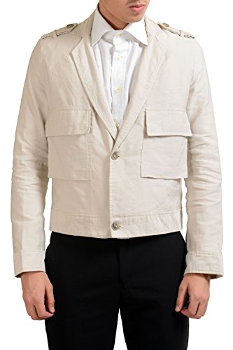 9c131df2c3697 Gianfranco Ferre GF Men's Linen Two Button Pocket Blazer Sport Coat US 38  IT 48