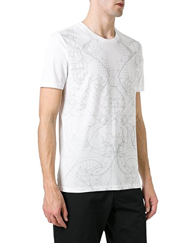 Diesel Black Gold Herren 00SYE1BGTIK100 Weiss Baumwolle T-Shirt
