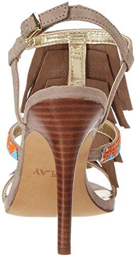 REPLAY Benie - Tira de tobillo Mujer Gris (Taupe)