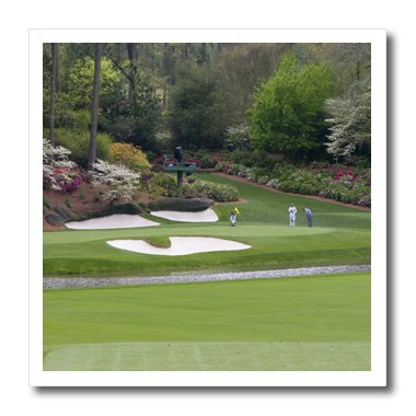 (3dRose ht_48684_1 Augustas Amen Corner Golf Course Where Dreams Are Made and Lost Iron on Heat Transfer for White Material, 8 by 8-Inch)