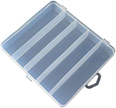 lasenersm Caja de Señuelos de Pesca con 5 Compartimentos de plástico Transparente Visible con Gancho, Caja de Almacenamiento, Organizador de Joyas, Caja organizadora de Joyas de 7 x 6,3 cm.: Amazon.es: Bricolaje