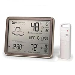 Chaney Instruments 75077A1 Wireless Weather Forecaster with Remote Sensor and Atomic Clock