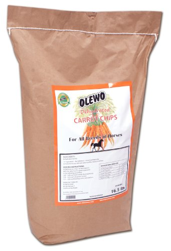 Olewo Dehydrated Carrot Chips Horse Food Supplement, 16-1/2-Pound, My Pet Supplies