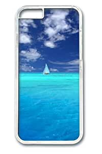 Blue Paradise PC Case Cover for iphone 6 plus 5.5 inch Transparent