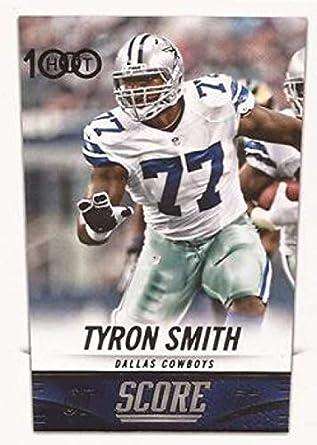 ada7706b9 Amazon.com: 2014 Score Hot 100#303 Tyron Smith Cowboys NFL Football ...