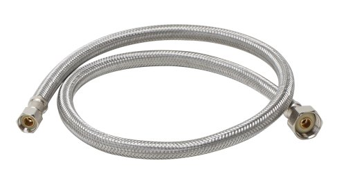 "Fluidmaster B1F30 Faucet Connector, Braided Stainless Steel - 3/8 Female Compression Thread x 1/2 I.P. Female Straight Thread, 30"" Length"
