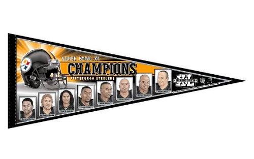 Wincraft NFL Pittsburgh Steelers Super Bowl Champions Player Pennant 12