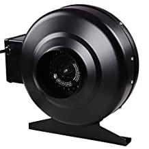 Inline Duct Exhaust Booster Vent Fan Blower: 4 Inch 160 CFM