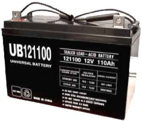 UNIVERSAL UB121000 12V, 100AH (20HR) SEALED AGM BATTERY by Universal Power Group