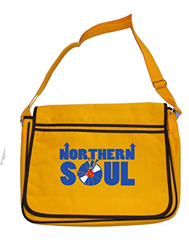 Mens bag RECORD retro SOUL NORTHERN SMASHED messenger Cool Yellow Graphic wqXP6