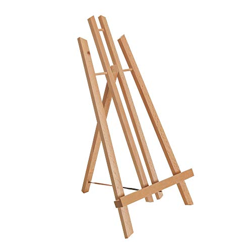 U.S. Art Supply 18 Large Tabletop Display Stand A-Frame Artist Easel - Beechwood Tripod, Painting Party Easel, Kids Students Classroom Table School Desktop - Portable Canvas Photo Picture Sign Holder