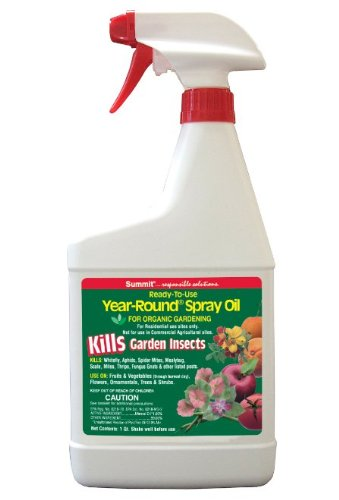 Summit 122 Year-Round Spray Oil for Garden Insects Ready-to-Use, 1-Quart