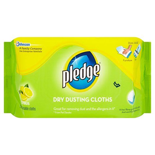 Pledge Dusting Cloths (citrus 20 Cloths Per Pack)