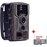 16MP HD Wildlife camera Train & Game Home security, Infrared Scouting Cameras 1080P Night Vision up to 65ft with 46pcs IR LEDs PIR 120 Degree and IP56 Waterproof
