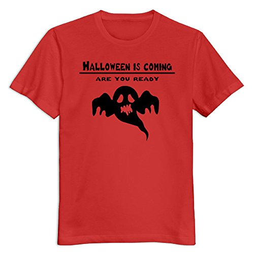 Men's Halloween Day 100% Cotton O Neck T-Shirt Red US Size -