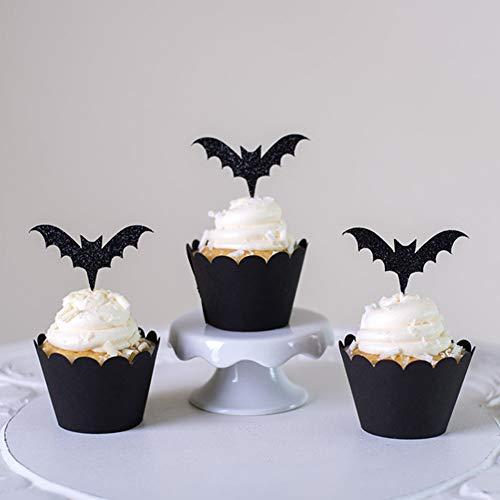 Ocamo Halloween Bat Placards Rims Cake Decoration Parties