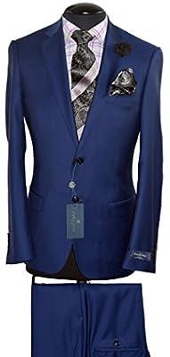 Zegna Ermenegildo Cloth / By Canaletto Menswear --- Slim Fit Superfine Wool Suit~Model: PORTO 1880U/0029