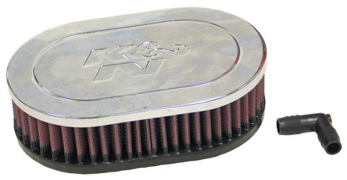 K&N RA-071V High Performance  Universal Clamp-on Chrome Air Filter