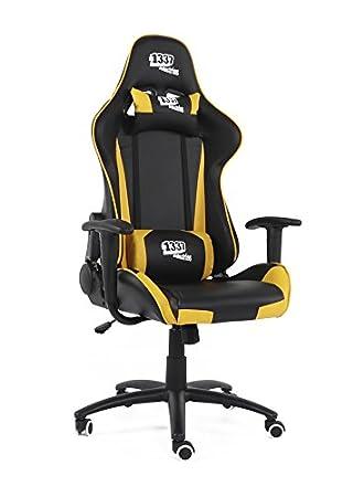 1337 industries - Silla Gaming gc757sp Negro/Gris - Accesorios de videoconsolas - los Mejores Precios: Amazon.es: Hogar