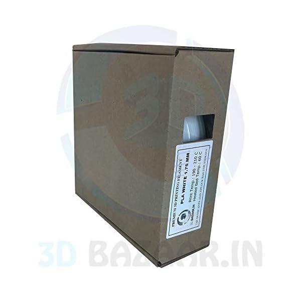 3D Bazaar 1 kg PLA 3D Filament 1.75 mm (White)