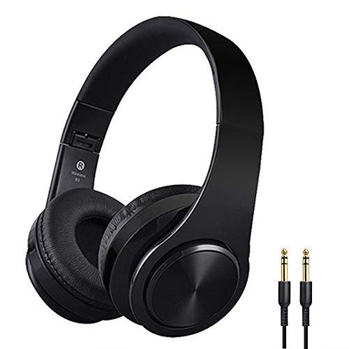 Huifen Wireless Bluetooth 5.0 Headphones Over Ear Noise Cancelling Headset, Folding Stereo Head Phones Deep Bass Wired…