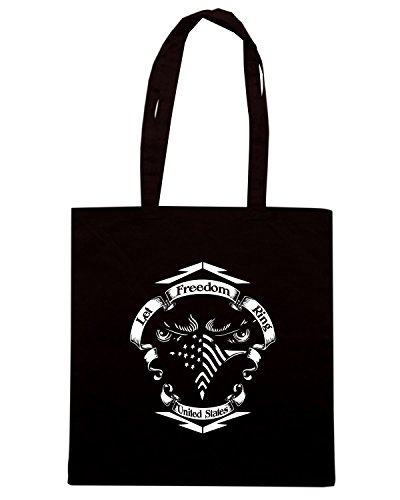 T-Shirtshock - Bolsa para la compra TM0617 let freedom ring Negro