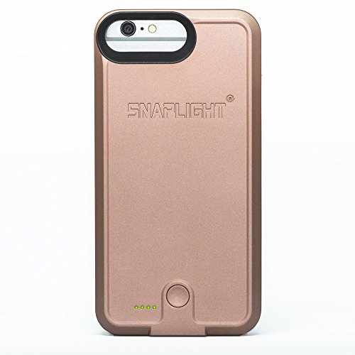 Snap Light Selfie Case & Power Bank, Color: Rose Gold, Fits iPhone (8/7 / 6S / 6)