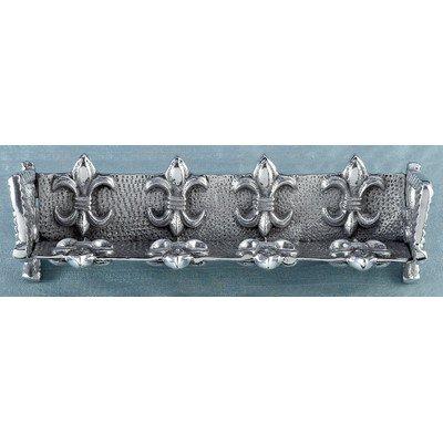 KINDWER Fleur-De-Lis Cracker Stand, Silver