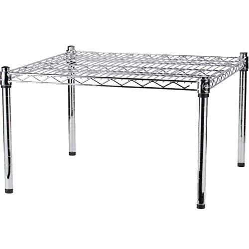 Cirocco Chrome Plated Wire Dunnage Rack   Durable Sturdy Heavy Duty 600LB Capacity Adjustable Feet Flexible Shelf Height Versatile   for Home Garages Warehouse Factory Dry Storage Heated Environment
