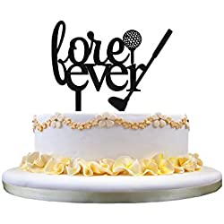 Fore Ever acrylic wedding cake topper,Golf cake topper