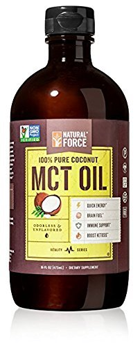 Coconut MCT Oil, Best for Brain Health and Metabolism – C8, C10, C12 MCT *High Octane Keto Fuel Made from Non-GMO Verified Organic Coconuts* Best Selling MCT Oil by Natural Force, 16 Ounce -  MCT-OIL-16