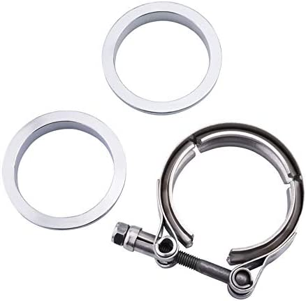 Exhaust Pipe Flat Mild Steel Stainless Steel 2.5 Inch HERCHR V-Band Flange Clamp