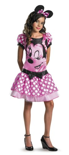 Pink Minnie Mouse Child Costume Size Large 10-12 -