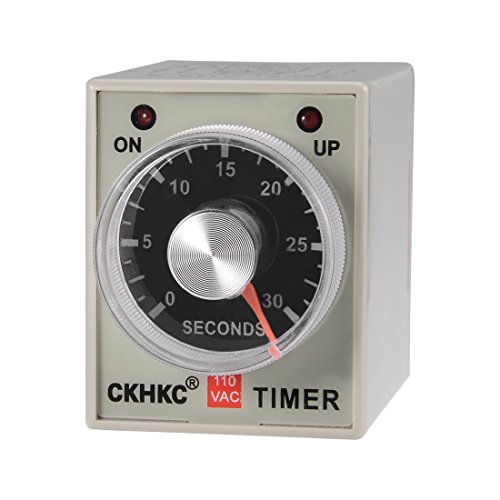 - uxcell AC110V 30S 8 Terminals Range Adjustable Delay Timer Time Relay AH3-3