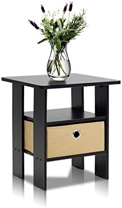 home, kitchen, furniture, living room furniture, tables,  end tables 4 picture Furinno End Table Bedroom Night Stand w/Bin in USA