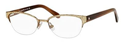 8f1cbd5a307 Image Unavailable. Image not available for. Color  Kate Spade Shayla  Eyeglasses-0W48 Glitter Striated Brown -51mm