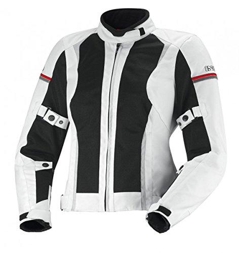 IXS Women's Alva Jacket (White/Black/Grey, Large) by IXS
