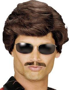 (Dark Brown Men's Used Car Salesman Wig by Bristol Novelty)