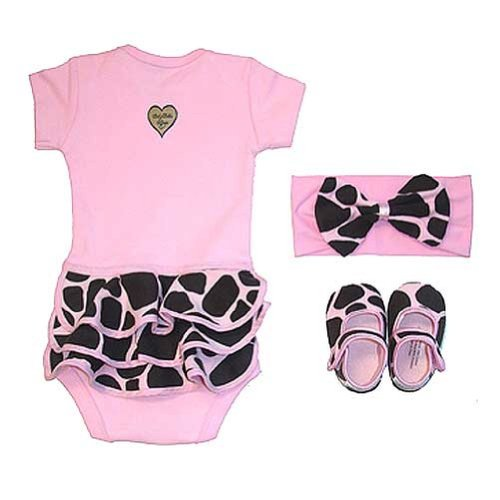 Baby Bella Maya Pink Giraffe Layette Gift Set Size 0-6 Months